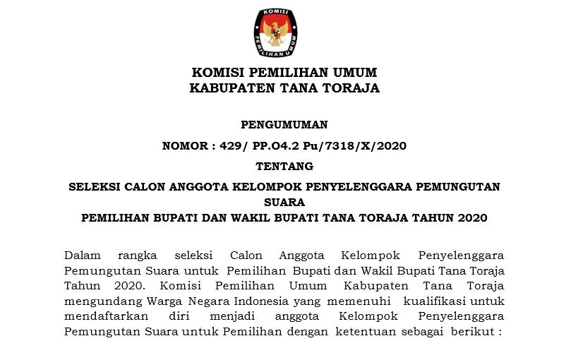 Kpu Kab Tana Toraja Komisi Pemilihan Umum Kabupaten Tana Toraja